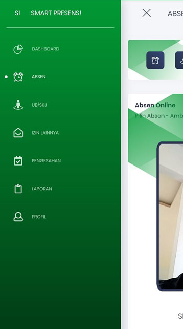 main menu smart presensi gps qrcode capture foto