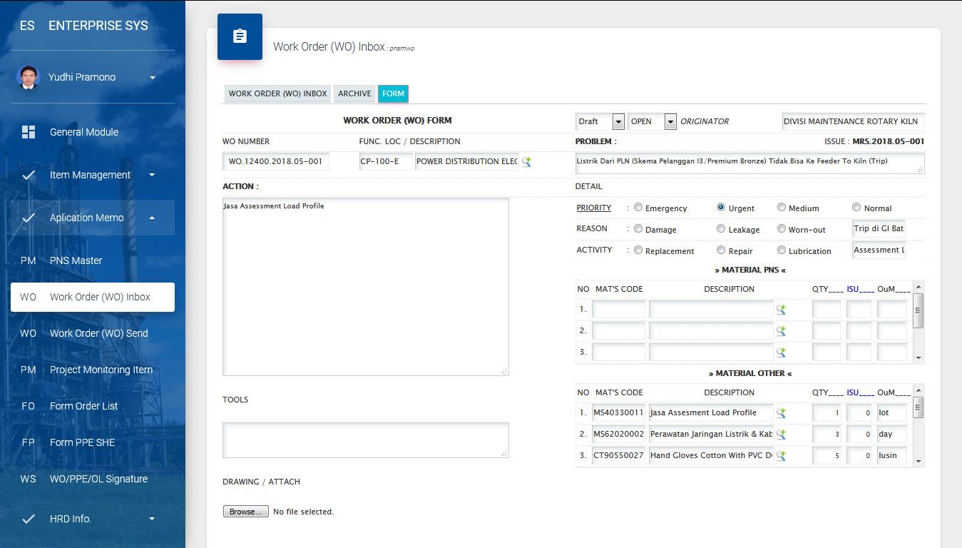buat job order system